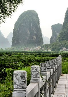 Karst mountains in Lijiang, Guilin, China #heritage