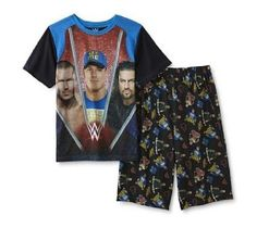 $28.99 WWE John CENA Pajamas Boy's 10/12 NeW Shirt Shorts Set Randy Orton Roman Reigns #WWE #PajamaSets