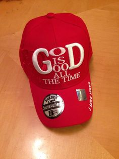 God Is Good All The Time Christian Red Baseball Cap in Hats Reds Baseball, Baseball Cap, Christian Hats, God Is Good, Inspirational Gifts, Beanies, Good Things, Unisex, Best Deals