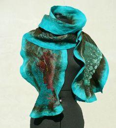 Nuno- felted scarf   Felting and