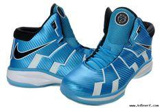 Wholesale Nike Zoom Lebron 10.8 Shoes-Sky Blue Black White