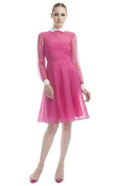 Valentino Fucshia Bustier Shirt Dress