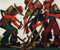 Sybil Andrews, Canada, 1937 lino-cut prints #artdeco