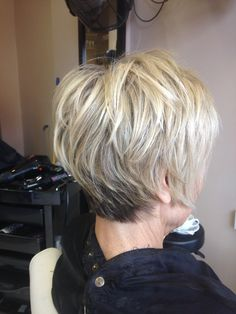 Choppy textured cut with highlights and lowlights
