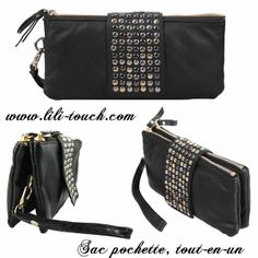 Mini sac, sac pochette, tout en un, porte monnaie. www.lili-touch.com