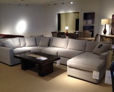 Radley 4 piece sectional sofa from Macys. What's great is we can order the 4 piece now, and when we buy a house, add extra sections to make it larger. Just found out dream couch lol.