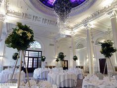 Tall tablecentres - King's Hall, Principal Edinburgh Hotel