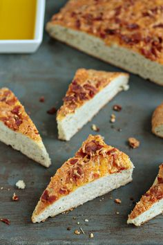 Bacon and Cheese Focaccia Bread from @Jamie {My Baking Addiction}