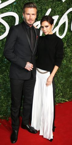 The Best Looks from the 2014 British Fashion Awards Red Carpet - Victoria and David Beckham from #InStyle