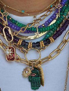 Funky Jewelry, Hippie Jewelry, Cute Jewelry, Vintage Jewelry, Jewelry Accessories, Jewlery, Accesorios Casual, Jewelry Trends, Statement Jewelry