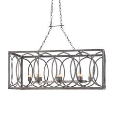 Ashley Taylor Home French Iron Charles Rectangular Chandelier 8 Light 1 499 00 Http