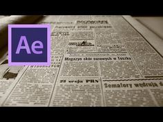 After Effects: Create a Video to Newspaper Front-Page Transition Effect Adobe After Effects Tutorials, Effects Photoshop, Video Effects, Vfx Tutorial, Animation Tutorial, Motion Design, Film Effect, After Effect Tutorial, Graphic Design Tutorials
