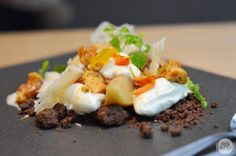 [SG] The Missing Pan | generous portions with comfortable ambience - Mela Con Formaggi (Granny smith, banana caramel sauce, chocolate soil, citrus mascarpone, parmigiano reggiano chips, homemade honeycomb)