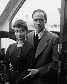 Audrey Hepburn and Mel Ferrer in Netherlands-1954