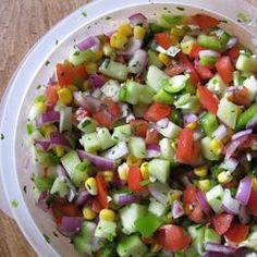 Cucumber salsa, a nice, fresh twist to an old yummy classic.