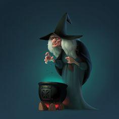 Witch, Jenya Tkach on ArtStation at https://www.artstation.com/artwork/yDraO