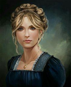 Human Female Aristocrat - Pathfinder PFRPG DND D&D d20 fantasy