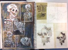 Gcse sketchbook - exploring death in van gogh's work - salva A Level Art Sketchbook, Sketchbook Layout, Kunstjournal Inspiration, Sketchbook Inspiration, Kunst Inspo, Art Inspo, Kunst Portfolio, Art Courses, Anatomy Art