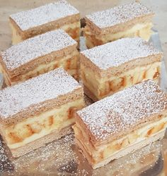 Sweet Desserts, No Bake Desserts, Sweet Recipes, Cake Recipes, Dessert Recipes, Hungarian Desserts, Homemade Cakes, Cake Cookies, Food And Drink