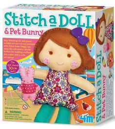 Great Gizmos 4M Stitch a Doll - Go Travelling with Pet Bunny Sewing Kit | Kids Crafts | Great Gizmos 4M Stitch a Doll - Go Travelling with Pet Bunny S