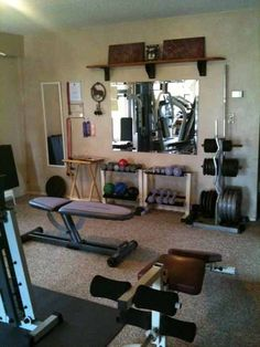 Read about why you should be weight training! I quite like this workout room