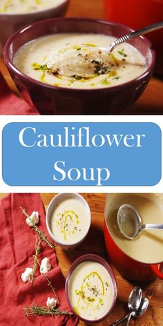 Cauliflower Soup Slow Cooker Mongolian Beef Recipe, Mongolian Beef Recipes, Slow Cooker Soup, Califlower Soup Recipes, Cauliflower Soup, Crockpot Recipes, Cooking Recipes, Healthy Recipes, Easy Recipes