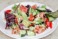 Chicken Souvlaki/Greek Salad