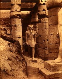 Ramses II, Luxor, Egypt, 1880s  photo by J. Pascal Sébah