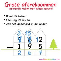Huissommen1 300x300 problemen met rekenen dyscalculie Best Teacher, School Teacher, Primary School, Math Stations, School Hacks, Math Classroom, Math Lessons, Kids Education, Teaching Resources