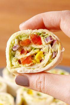 Chicken Avocado Roll-Ups