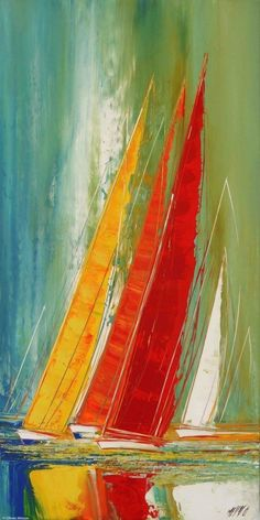 wonderful from each other beach canvas painting, aesthetic painting, painting techniques, chalk paint, fondos painting ideas. Check out other amazing examples Sailboat Art, Sailboat Painting, Sailboats, Painting & Drawing, Body Painting, Acrylic Painting Techniques, Painting Inspiration, Amazing Art, Watercolor Art