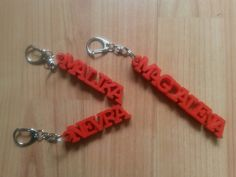 Name Keychains for the Kindergarden Teachers of my son :)