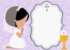 Imprimolandia: Invitaciones de comunión Tag Templates, Baptism Centerpieces, Communion Invitations, First Holy Communion, Invitation Design, Invite, Special Day, Diy And Crafts, Projects To Try