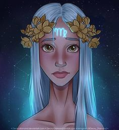 Virgo - zodiac sign by deoxydiamond on deviantart Virgo Art, Zodiac Art, Astrology Zodiac, Astrology Signs, Zodiac Signs, Art Zodiaque, Signo Virgo, Zodiac Characters, Illustration