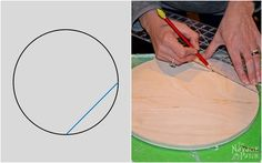 Learn how to find the center of a circle in this quick and easy tutorial. Algebra Formulas, Locker Hooking, French Cleat, Half Circle, Plastic Cutting Board, Patches, Art Projects, Diys, Jewelry