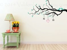 Couples love sign monogram wall decal tree decal by ValdonImages, $40.00