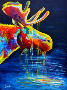 Moose Drool Painting by Teshia Art - Moose Drool Fine Art Prints and Posters for Sale