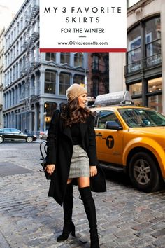 Cold Weather Outfits - My 3 Favorite Skirts for Winter December Outfits, Outfits Spring, Cute Winter Outfits, Winter Fashion Outfits, Women's Fashion, Paris Fashion, Cold Weather Outfits For School, Cold Weather Fashion, Japan Outfits