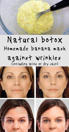 Natural botox: Homemade banana mask against wrinkles (including acne or dry skin) #health #beauty #fitness #diy