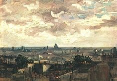 1886 Vincent van Gogh: The Paintings (View of the Roofs of Paris)