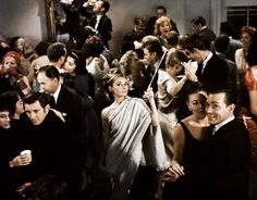 Love a party scene in a movie and few are better than the ones held in Holly Golightly's New York apartment, 'Breakfast at Tiffany's', 1961. www.melbournemodernist.com