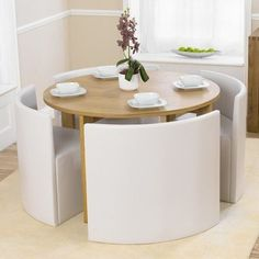 Small Dining Sets, White Dining Set, Small Table And Chairs, Small Kitchen Tables, Table For Small Space, Chairs For Small Spaces, Small Tables, Table And Chair Sets, Compact Dining Table