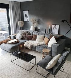 Stylish and cozy interior located in Netherlands.Photo courtesy … credit Stylish and cozy interior located in Netherlands. Living Room Decor Cozy, Home Living Room, Interior Design Living Room, Living Room Designs, Scandinavian Interior Living Room, Scandinavian Style, Cosy Living Room Decor, Apartment Living Rooms, Cosy Decor