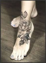 Image result for realistic rose tattoo black and white