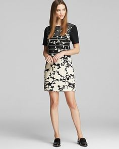 4.collective Printed Floral Shift Dress - Short Sleeve | Bloomingdale's