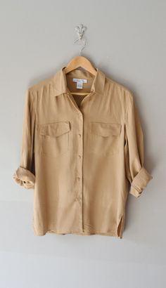 silk blouse | Brown Butter blouse