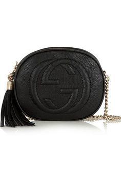 8ea117135e Gucci Soho textured-leather shoulder bag #guccibagspricelist Black Gucci  Purse, Purses And Handbags