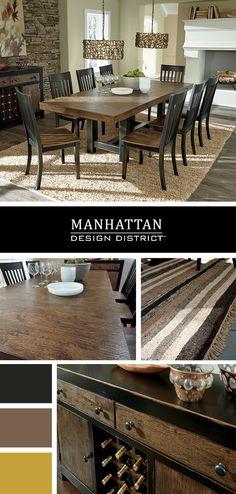 Urban Dining Room Style - Urban Furniture - Emerfield Dining Room Set - Manhattan Design District - Ashley Furniture