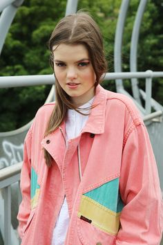 Vintage Oversize Pastel Denim Jacket http://www.thewhitepepper.com/collections/vintage/products/vintage-oversize-pastel-denim-jacket