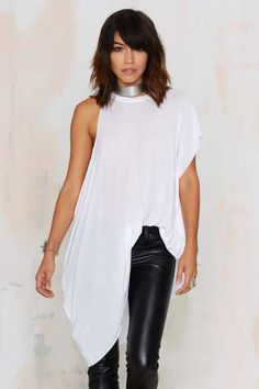 Nasty Gal Up in Arms Asymmetric Tee